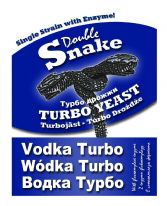 10 Pack by DoubleSnake Vodka Turbo Plus 1kg (2 litres) FREE Alcotec Spirit Carbon